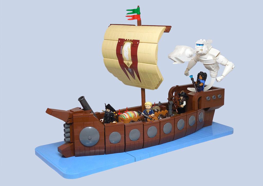 LEGO® MOC by Vitreolum: Air Elemental Boat