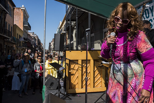 Barbara Shorts and Blue Jazz perform during French Quarter Fest 2018 on April 15, 2017. Photo by Ryan Hodgson-Rigsbee RHRphoto.com