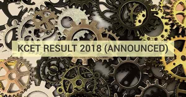 kcet 2018 result announced
