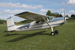 N71CW Cessna 180E (180-51093) Popham 210517