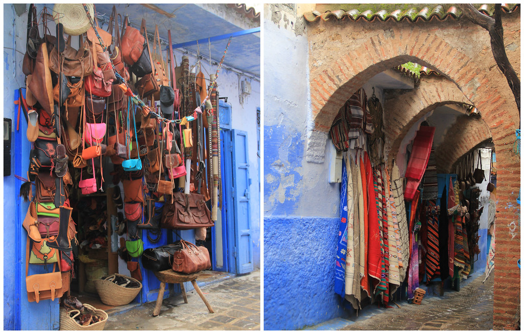 Leather and rug shops, Chefchaouen