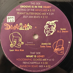 DEEE-LITE:GROOVE IS IN THE HEART(LABEL SIDE-A)