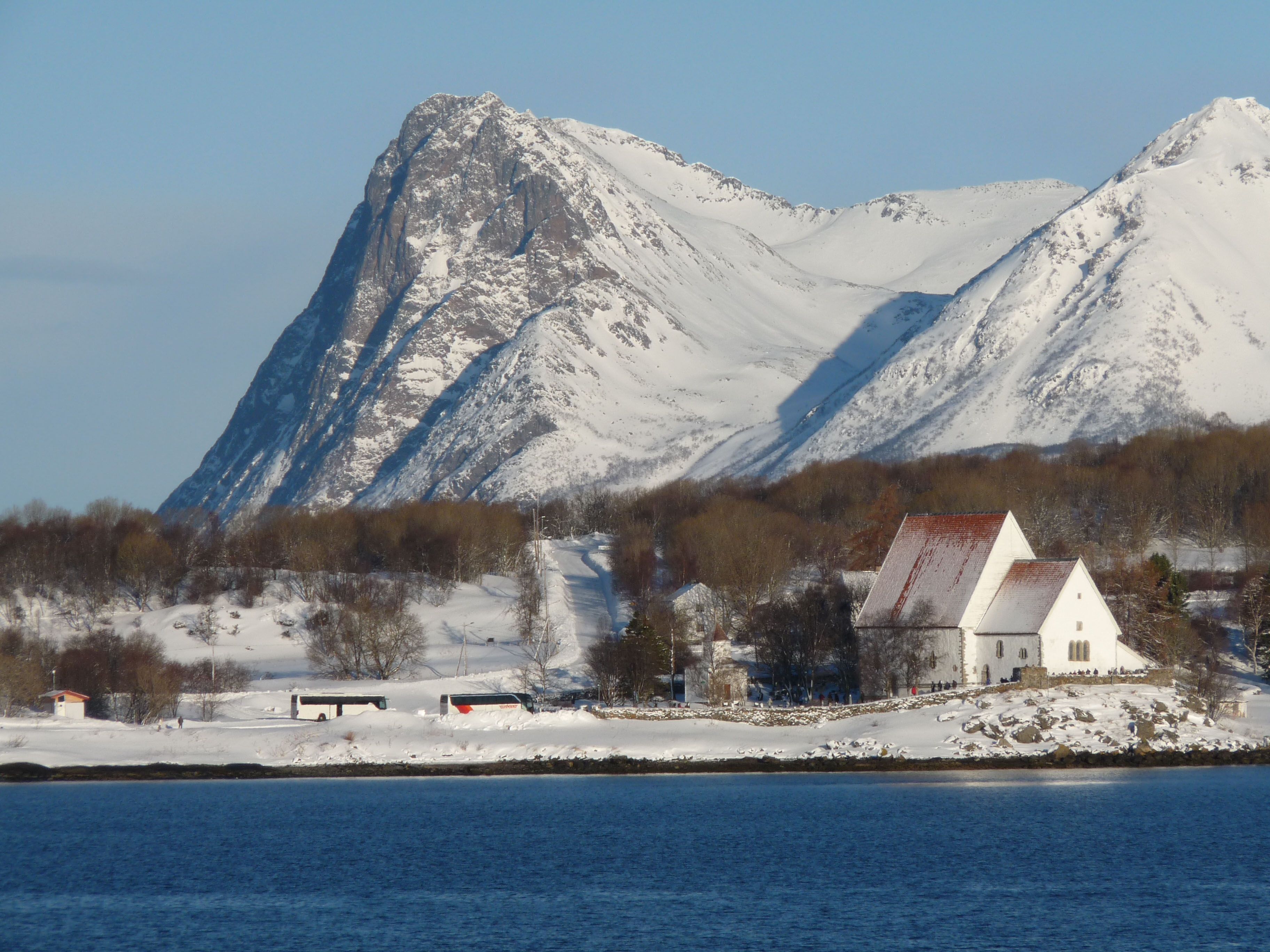 Trondenes Church, Norway. Photo taken on March 11, 2011.