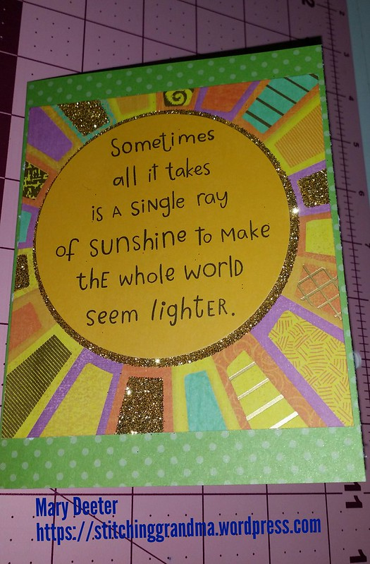 Single Ray of Sunshine