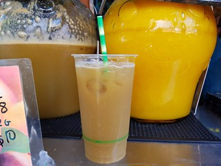 Apple, Mint, Ginger, and Lime juice at Brisbane Vegan Markets