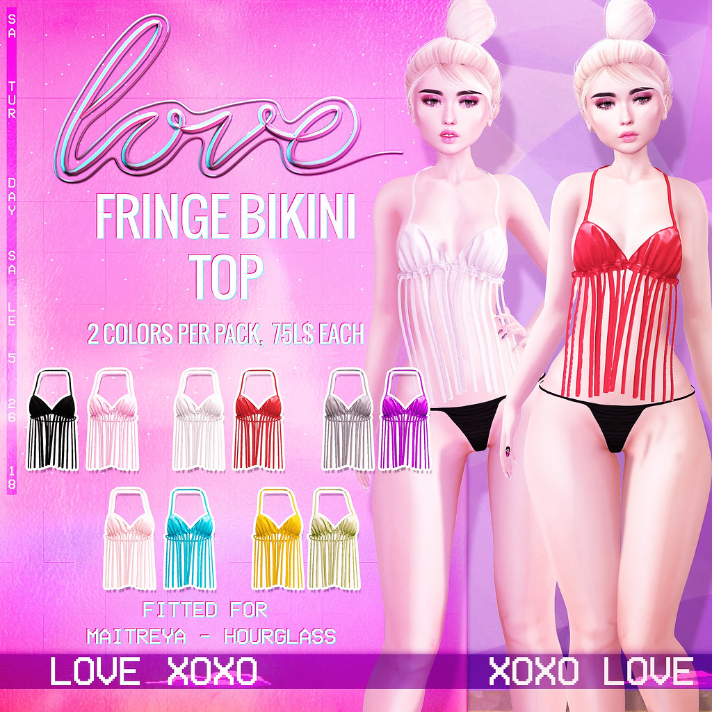 Love [Fringe Bikini Top] - The Saturday Sale - TeleportHub.com Live!