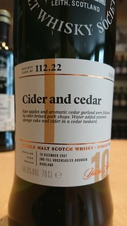 SMWS 112.22 - Cider and cedar