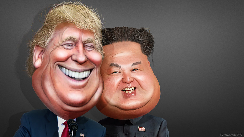 Donald Trump and Kim Jong-un - Caricatures