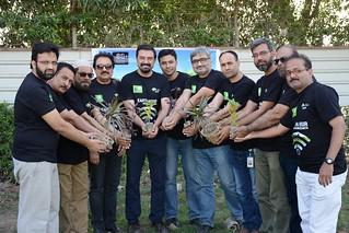 Wajid Junejo - Plant Manager Engro Fertilizers Blending Plant - Heading tree plantation drive at Port Qasim Karachi Pakistan during Earth Hour 2018