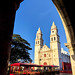 Campeche cathedral and trolley por Second-Half Travels