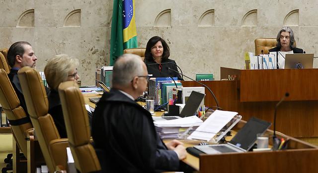 Sesión de este miércoles (4) en el Supremo Tribunal Federal, que deliberó sobre pedido de habeas corpus del expresidente Lula - Créditos: Lula Marques