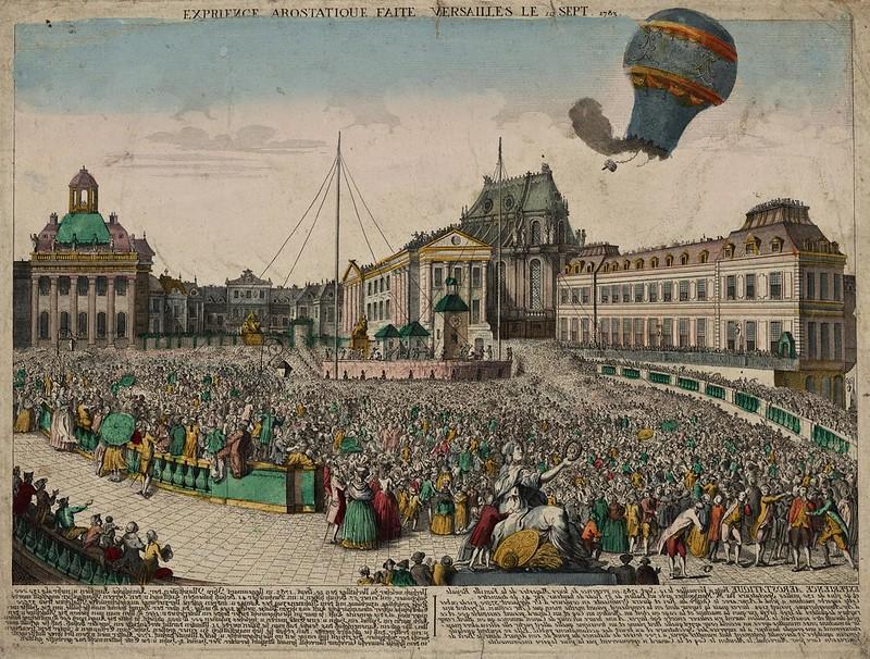 Exp[é]rience a[ë]rostatique faite Versailles le 19 sept. 1783