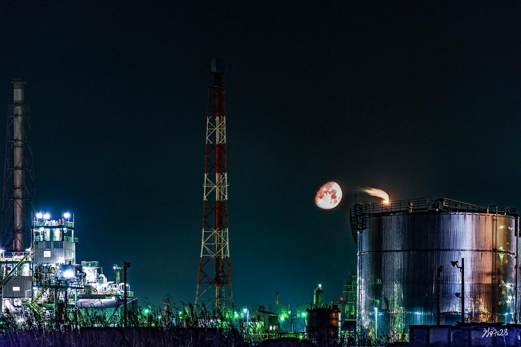月と工業地帯-2