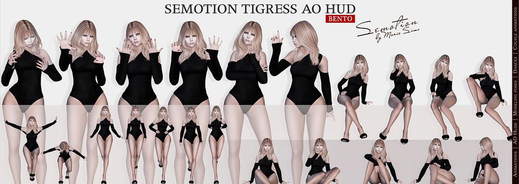 SEmotion Tigress AO HUD v3.9 - TeleportHub.com Live!