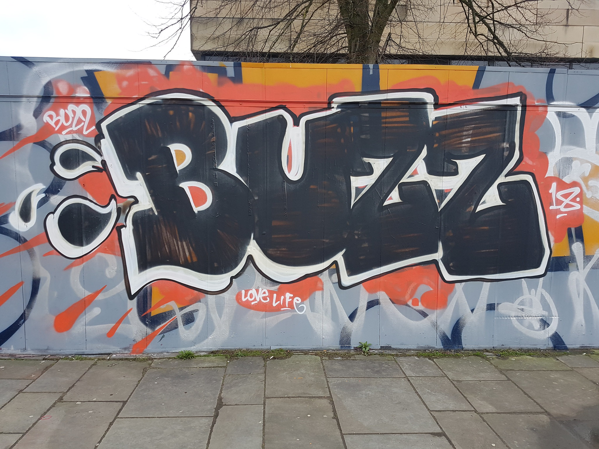 Tributes to Buzz, street art Cardiff