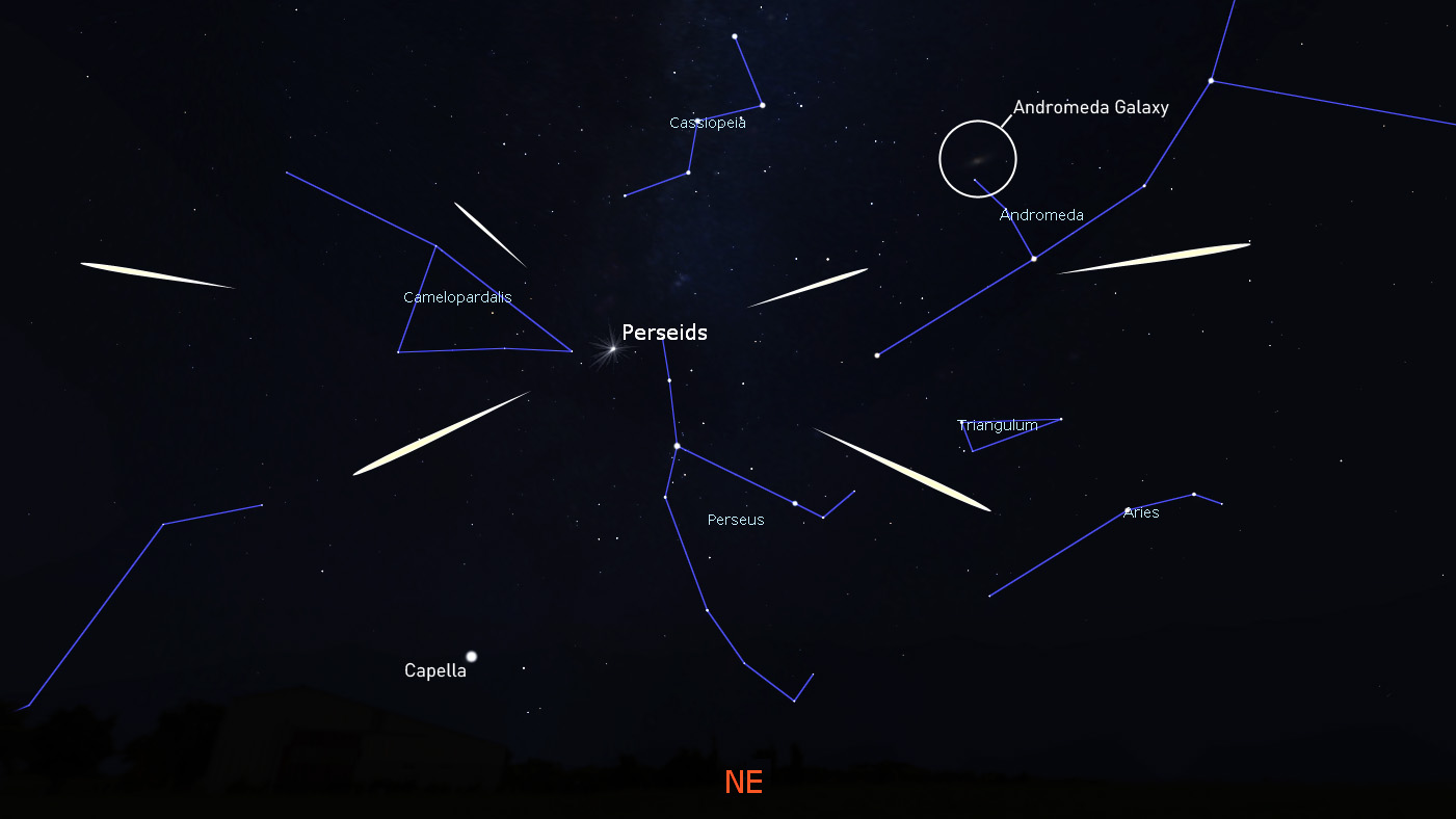The Perseid meteor shower is underway