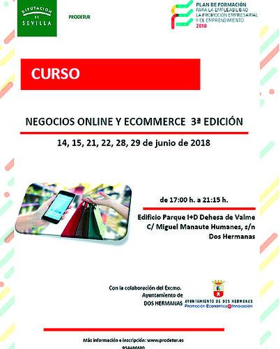 Cartel curso Prodetur sobre Ecommerce