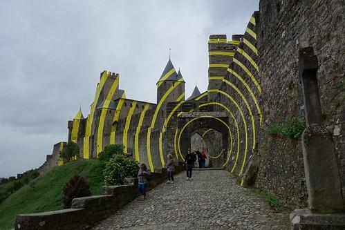 Cercles concentriques excentriques - Cité de Carcassonne - Carcassonne, France