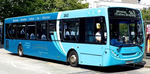 CX58 EVY 'ARRIVA Manchester' No. 2748, 'Sapphire 263'. Alexander Dennis Ltd. (ADL) Enviro 300 / ADL Enviro 300 /1 on 'Dennis Basford's railsroadsrunways.blogspot.co.uk'