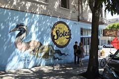 """Mythological Bird"" @ Cafe du Soleil, Fillmore St., Lower Haight (Artists: Dan Quintara, Miss Van)"