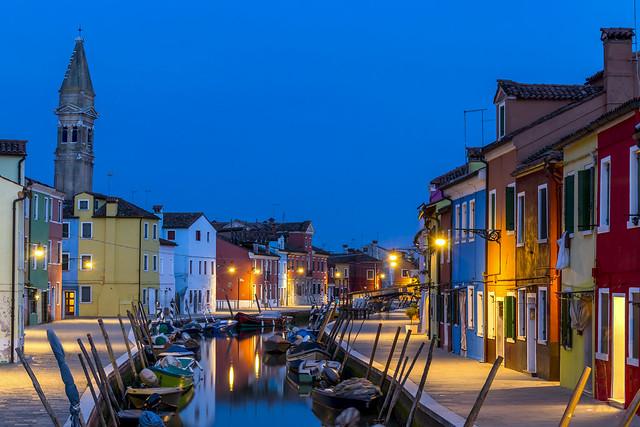 ABM (Another Blue Monday)  / Evening in Burano, Venetian lagoon, Italy