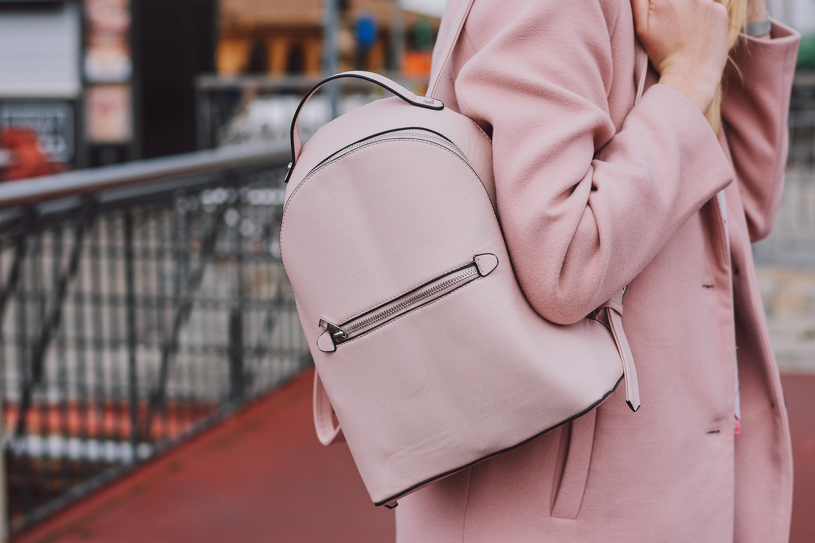 Stradivarius cute pink backpack