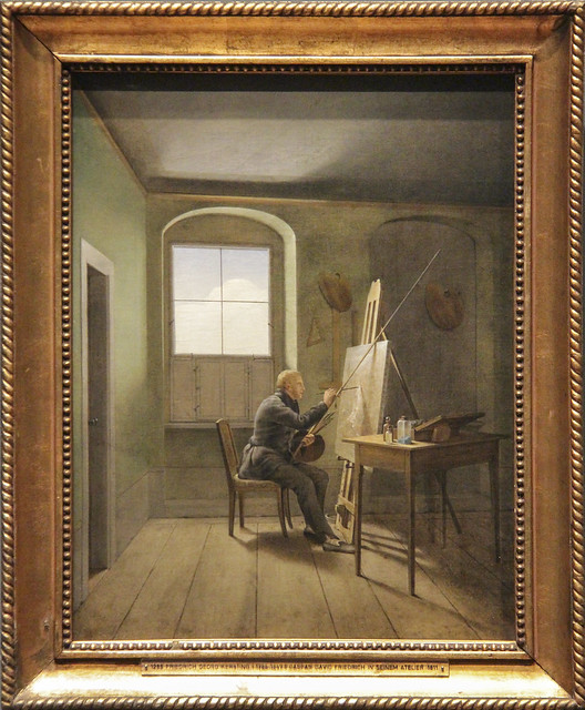 Casper David Friedrich in His Studio, Gerorge Frederich Kersting, 1811