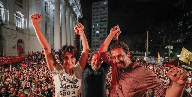 Los precandidatos presidenciales Manuela D'Ávila y Guilherme Boulos se unieron a Lula en la actividad - Créditos: Ricardo Stuckert