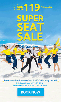 Super Seat Sale Cebu Pacific Australia