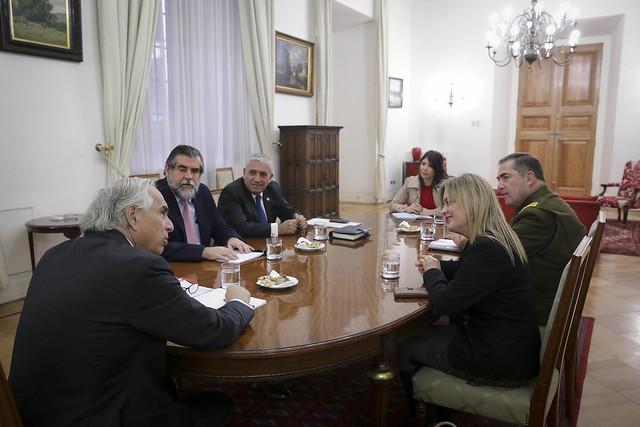 Reunión Carabineros, PDI y Fiscalía. 22.05.18