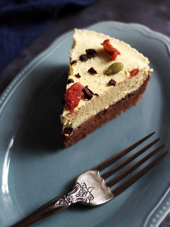 全素橙香巧克力起司蛋糕 vegan-double-chocolate-orange-cheesecake (6)