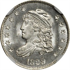 1829 Capped Bust Half Dime obverse