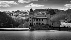 Le château en noir et blanc
