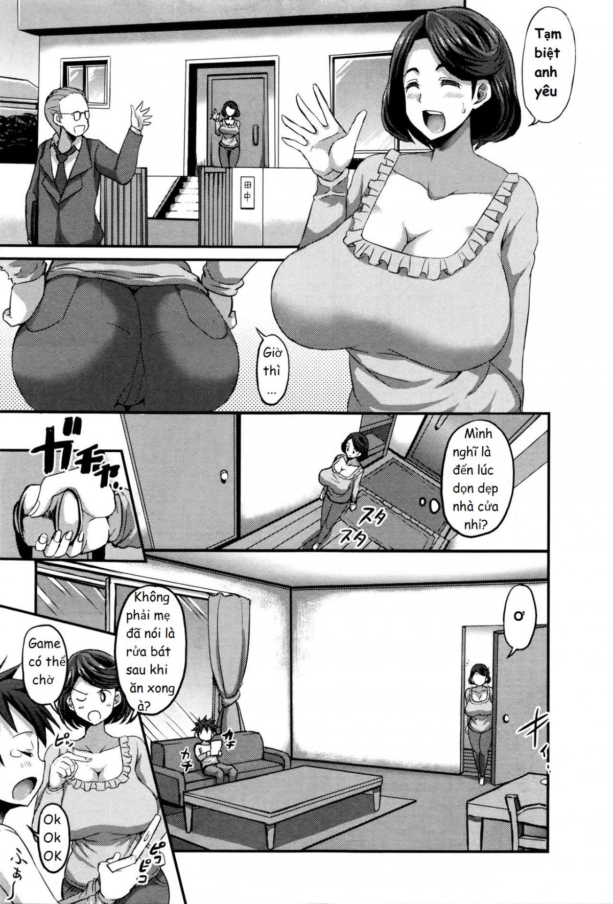 HentaiVN.net - Ảnh 9 - Inmu no Mama to Genjitsu no Okaa-san - Oneshot