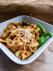 Sun-Dried Tomato Pesto with Toasted Almonds & Pine Nuts