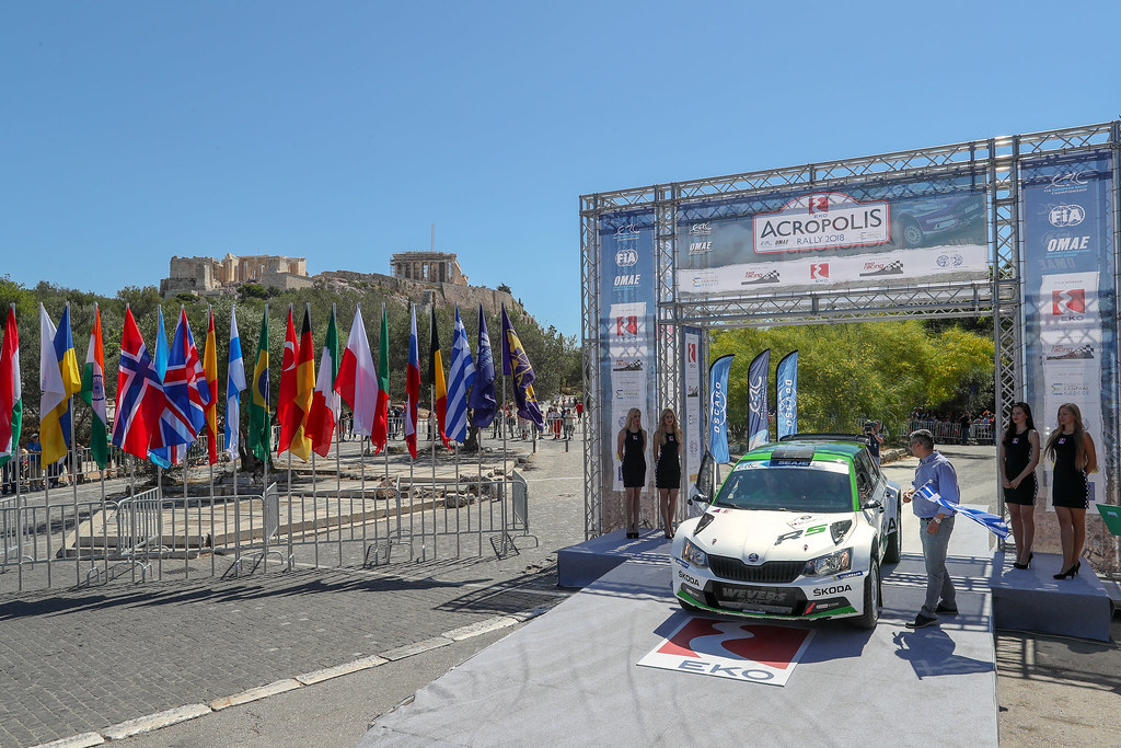 29 NORDGREN Juuso (fin), SUOMINEN Tapio (fin), Skoda Fabia R5, podium ambiance during the European Rally Championship 2018 - Acropolis Rally Of Grece, June 1 to 3 at Lamia - Photo Alexandre Guillaumot / DPPI