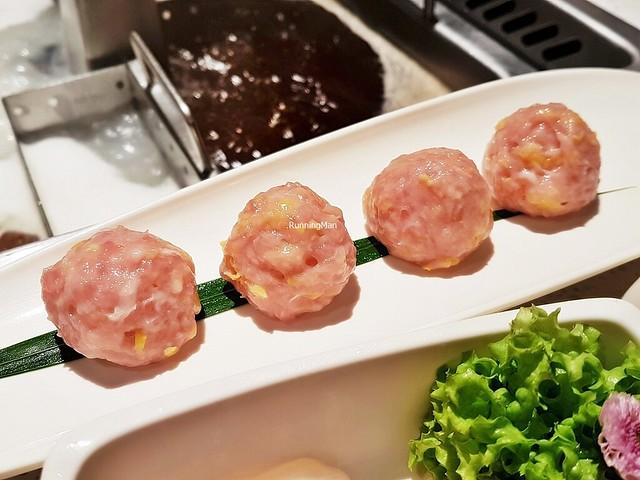 Raw Pork & Corn Meat Balls