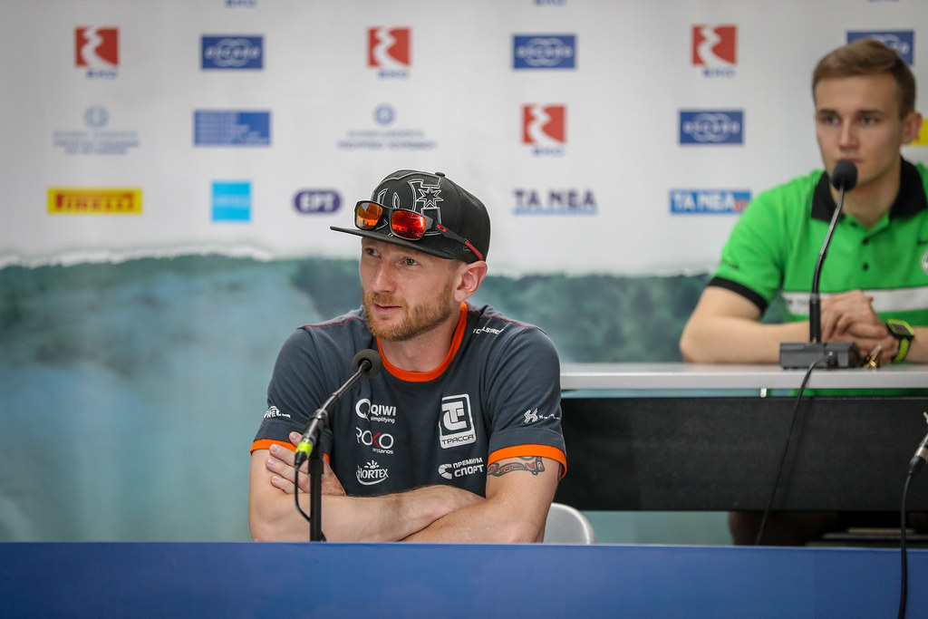 LUKYANUK Alexey (rus), ARNAUTOV Alexey (rus), Russian Performance Motorsport, FORD FIESTA R5, portrait during the European Rally Championship 2018 - Acropolis Rally Of Grece, June 1 to 3 at Lamia - Photo Alexandre Guillaumot / DPPI