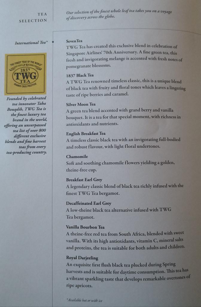 TWG Tea selection