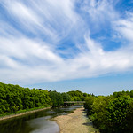 River Ribble , seen within Avenham Park , Preston - May 2018