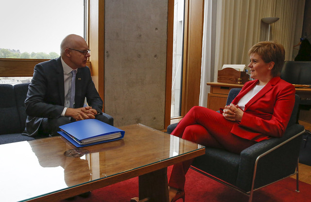 First Minister meets Ambassador of the Republic of Lithuania