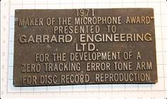 Garrard 1971 Emile Berliner Award 2