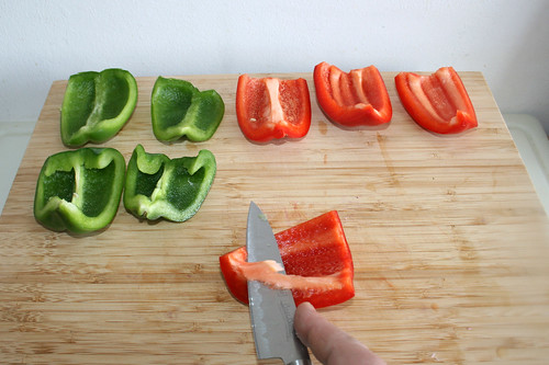 13 - Paprika entkernen /Decore bell pepper