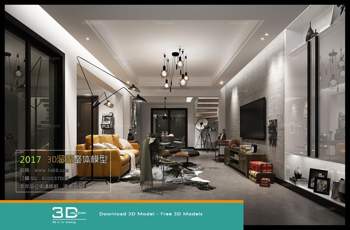90  Living room 3DSmax file free download - 3D Mili