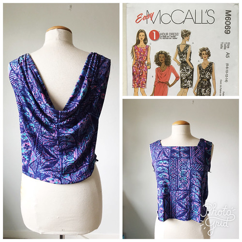McCalls cowl knit dress