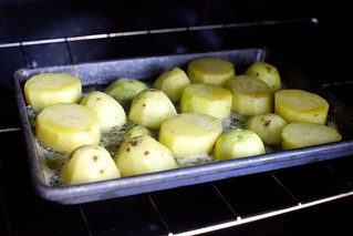 bubbling in the oven