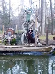 Ayden & Otis at Ent pond