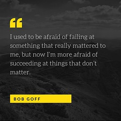 I'm way late to this party, but I'm getting blown away reading @lovedoes by @bobgoff and this quote is just one of his many gems. There may not be a more genuine example of love in action than Bob, and his writing and gift for story are just incredible. #