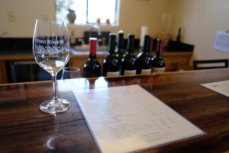 Vino Noceto Winery Menu