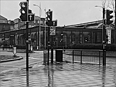 Brook Street into Ferensway  Monochrome